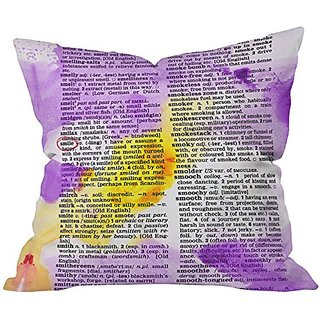 DENY Designs Susanne Kasielke Smile Dictionary Art Throw Pillow, 26 x 26