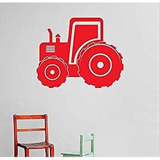 Design with Vinyl Cryst 491 1057 Red Tractor Demolish Demolition Construction Operation Equipment Kids Boys Tools Vinyl