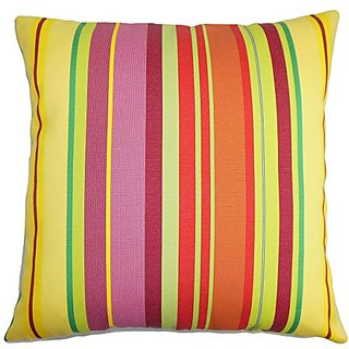The Pillow Collection Laird Stripes Pillow, Yellow Orange
