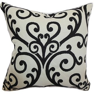 The Pillow Collection Ymanie Floral Pillow, Creme