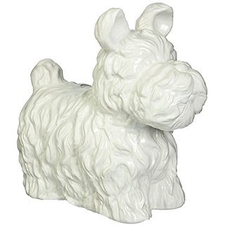 Urban Trends 46664-UT Decorative Ceramic Dog, Matte White