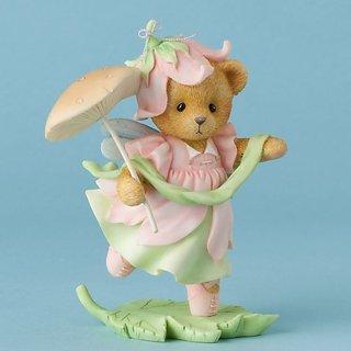 Cherished Teddies Hush and Hear the Whisper of Fairies Bear Mushroom Figurine