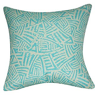 Loom and Mill P0139A-2121P Aztec Decorative Pillow, 21-Inch, Seafoam
