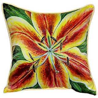 Betsy Drake Yellow Lily Pillow, 18