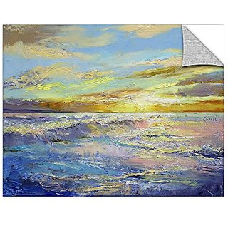 ArtWall Michael Creeses Florida Sunrise Art Appeelz Removable Wall Art Graphic, 14 by 18