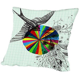 American Flat Song-Fine Pillow by Paula Mills, 16