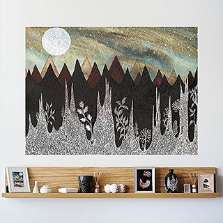 My Wonderful Walls Aurora Borealis and The Ice Forest Wall Sticker Celestial Art by Elise Mahan, Large, Multicolored