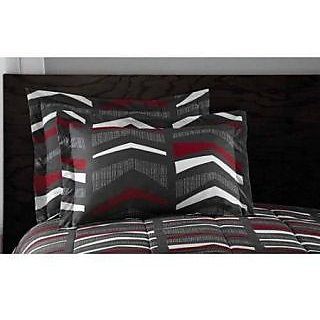 RED WHITE GRAY GREY NATIVE TRIBE 7 PIECE queen BEDDING SET W/ LINENS BEYOND FLASHLIGHT