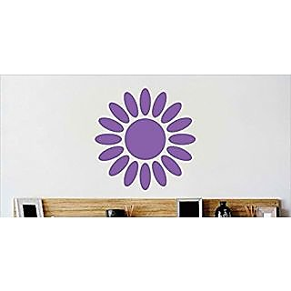Design with Vinyl Cryst 540 1220 Purple Flower Border Design Vinyl Wall Decal Art Home Decor Bedroom Living Room, 12 by