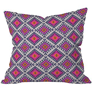 DENY Designs Holli Zollinger Shakami Bright Throw Pillow, 18 x 18