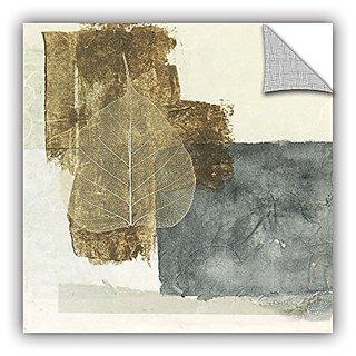 ArtWall Elana Rays Wabi Sabi Bodhi Leaf Collage 5 Appealz Removable Graphic Wall Art, 24 x 24