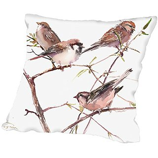 American Flat Sparrow Group Pillow by Suren Nersisyan, 18