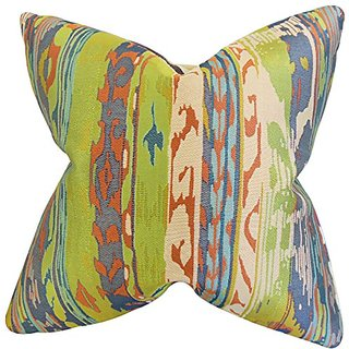 The Pillow Collection Ogun Ikat Pillow, Green