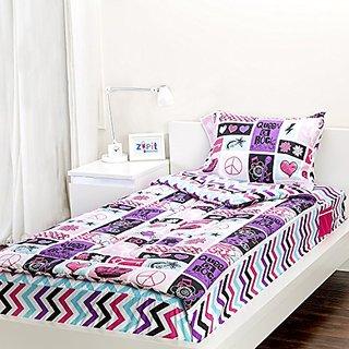 Zipit Bedding Rocker Princess 3 Piece Twin Reversible Comforter Set