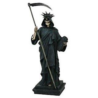 PTC Lady of Liberty Creeper Skeleton Resin Statue Figurine, 11.5