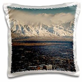 3dRose Wasatch Mountains, Salt Lake City, Utah, USA-Us45 Hga0339-Howie Garber-Pillow Case, 16 by 16