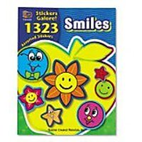 Teacher Created Resources 4223 Teacher Created Resources Sticker Books, Smiles, 1,323 Assorted Stickers/pack