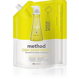 Method Gel Dish Pump Refill, Lemon Mint, 36 Ounce