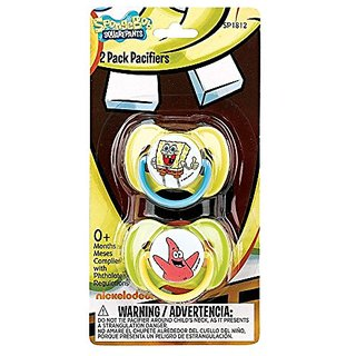 Nickelodeon Spongebob Pacifiers  2 Pack
