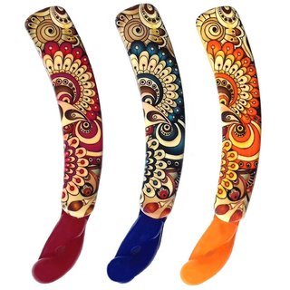 Shreya Collection Combo of 3 Multicolour Banana Hair Clips  1001255