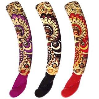 Shreya Collection Combo of 3 Multicolour Banana Hair Clips  1001256