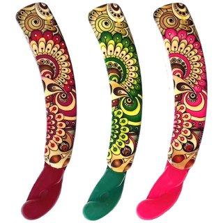 Shreya Collection Combo of 3 Multicolour Banana Hair Clips  1001258