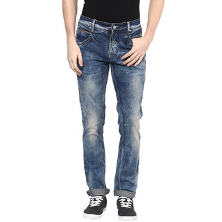 Richlook Blue Slim Fit Mid Rise Jeans For Men