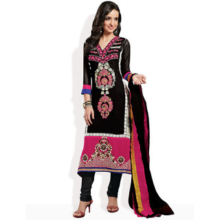 Schelene Bollywood Style Ready-To-Stitch Suit (Black)