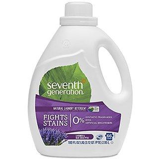 Seventh Generation Natural Liquid Laundry Detergent - 100 oz - Blue Eucalyptus and Lavender - 66 Loads