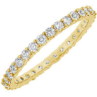 LoveBrightJewelry In Style 14K Yellow Gold & Diamond Eternity Bangle