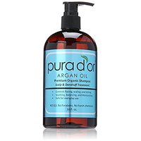 Pura Dor Argan Oil Premium Organic Shampoo Scalp And Dandruff Treatment, 16 Ounce
