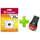 Transcend 32 GB Micro SD Card + FREE Card Reader