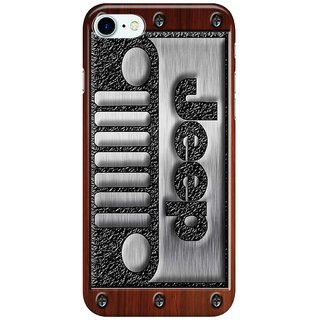 Dreambolic Embossed-Steel-Jeep-logo-with-wood-background Back Cover for Apple iPhone 7