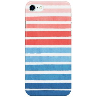 Dreambolic Summer-Stripe---Nautical,-classic,-blue,-red,-pink,-trendy-cell-phone-case Back Cover for Apple iPhone 7