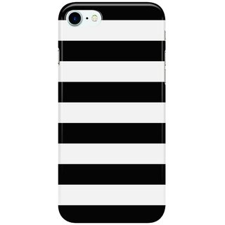 Dreambolic Stripe-Black--White-Horizontal Back Cover for Apple iPhone 7