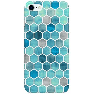 Dreambolic Blue-Ink---watercolor-hexagon-pattern Back Cover for Apple iPhone 7