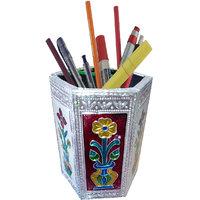 Handmade Decorative/Colourful MEENAKARI ART Pen-stand