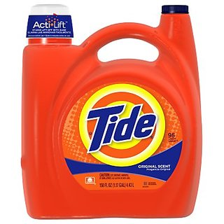 Tide 23064 Original Scent Liquid Laundry Detergent, 150 Ounces, 96-loads (Case of 4)