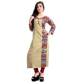 DhanLaxmi Textiles Chanderi Silk Kurtis for Women