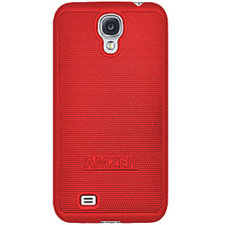 Amzer 95581 Snap On Case - Red for Samsung GALAXY S4 GT-I9500