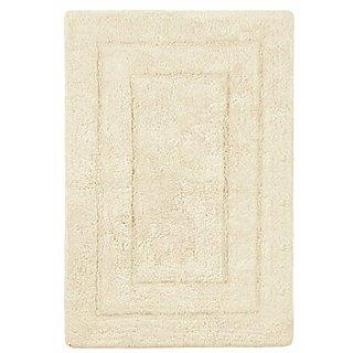 Archangel Ultra Soft Rectangular Debossed Solid Bath Mat Super Absorbent Thick Cream Rug 24