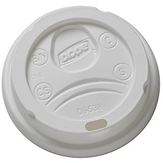 Dixie 9538DX WiseSize Dome Lid for 8 oz PerfecTouch and Single Wall Hot Cups, White (Case of 10 Packs, 100 Lids per Pack