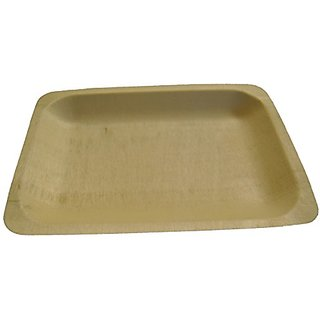 Perfect Stix Perfectware 7- 25ct Wooden Disposable Rectangular Plates, 7.5