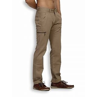 Fast N Fashion Popular Cotton Khaki Solid Chinos