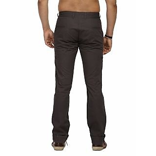 Fast N Fashion Swank Cotton Grey Solid Chinos