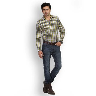 Fast N Fashion Faddy Cotton Yellow Checks Shirt