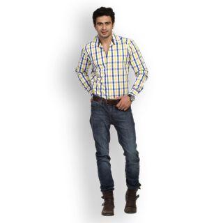 Fast N Fashion Favored Cotton Yellow Checks Shirt