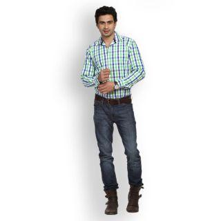 Fast N Fashion Latest Cotton Green Checks Shirt