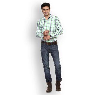 Fast N Fashion Modern Cotton Green Checks Shirt