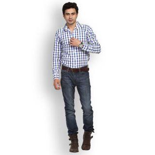 Fast N Fashion Popular Cotton Blue Checks Shirt
